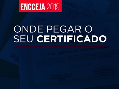 Onde pegar o seu certificado do ENCCEJA!