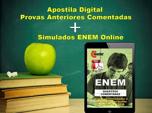 Apostila PDF ENEM - Provas de Edições Anteriores Comentadas + Simulados Online
