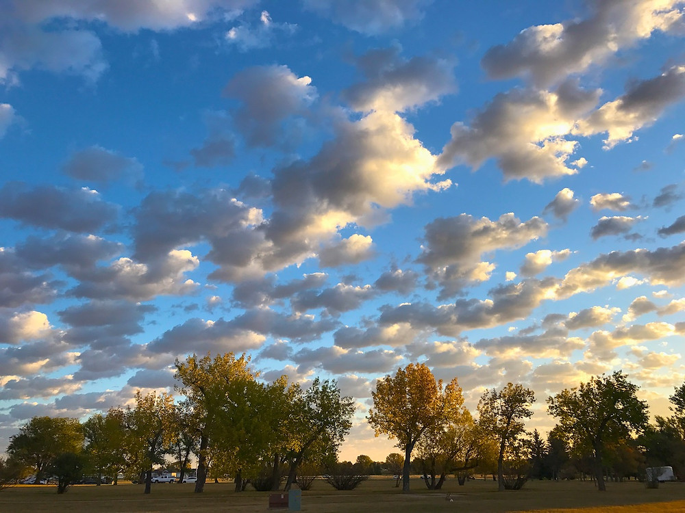 October sky Wyoming