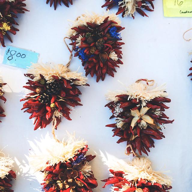 Downtown Growers' Market chile décor