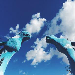 Corrales NM horse sculpture