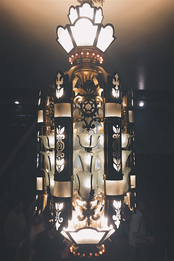ornate light at the Paramount Theatre