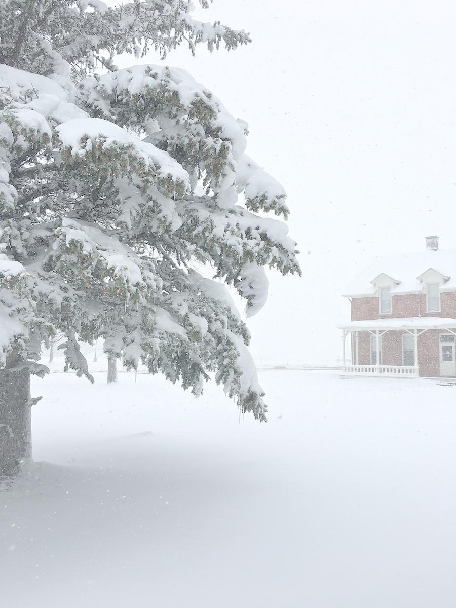 heavy spring snow F.E. Warren AFB