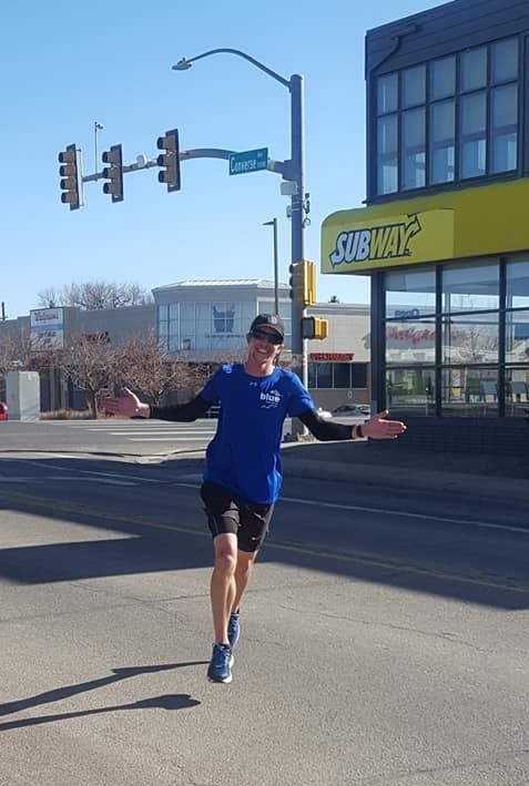 Adam Cordell runs fundraising marathon in Cheyenne