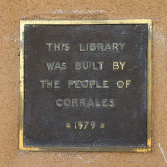 Corrales Community Library plaque