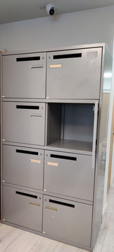 Eight lockers are available