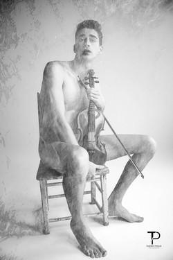 Le violoniste nu