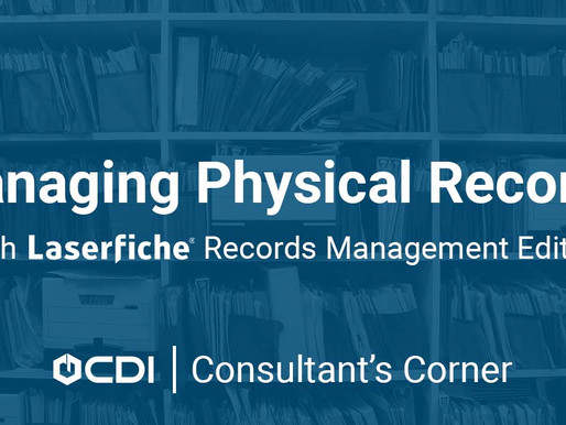 Managing Physical Records With Laserfiche Records Management Edition