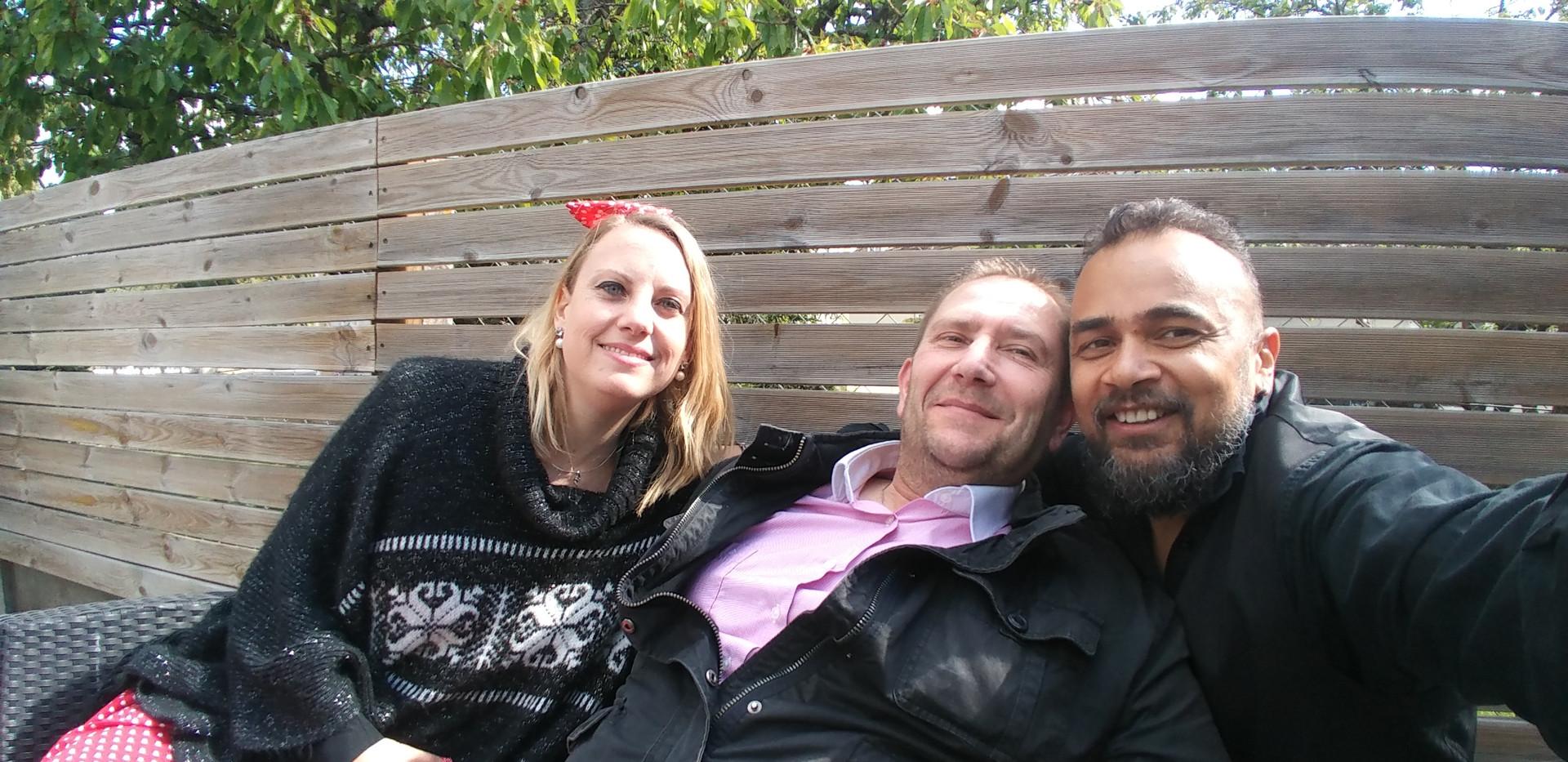 avec Janyce et Franck