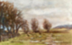 "En Plein Air ""Wet day in March"" Dartmoor oil painting by David Mather"