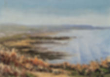 Widemouth bay oil painting by David Mather