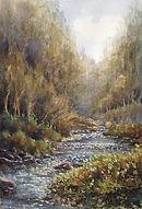 River Walkham, Watercolour by David Mather
