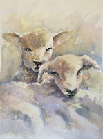 New Born watercolour by David Mather