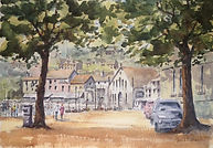 St Aubin Jersey watercolour by David Mather