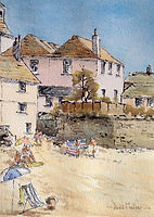 Sunny in St Ives, Watercolour by David Mather