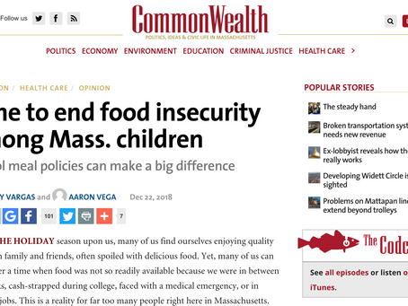 Time to end food insecurity among Mass. children
