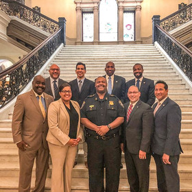 The _mablacklatinocaucus today honored n