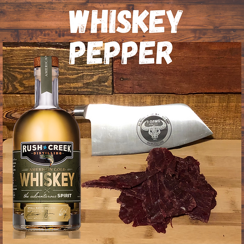 Whiskey Pepper Smoked Beef Jerky 3 oz. Package