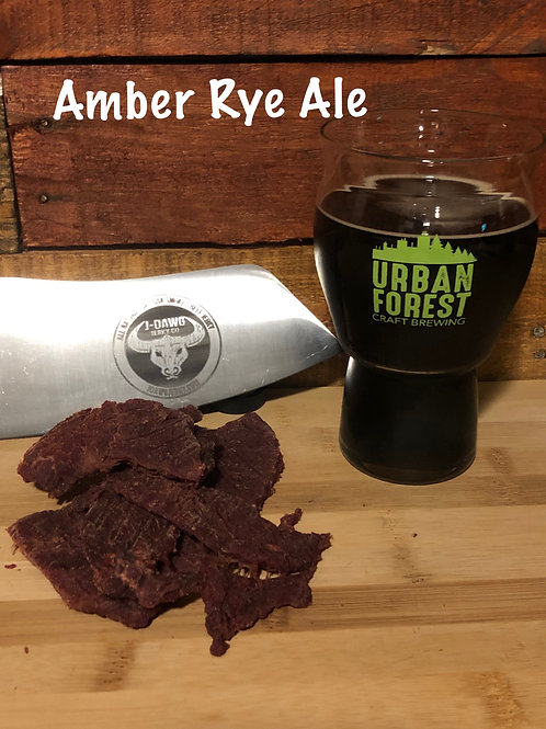 Amber Rye Ale Smoked Beef Jerky 3 oz. Package