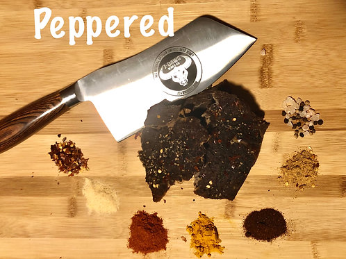 Peppered Smoked Beef Jerky 3 oz. Pkg.