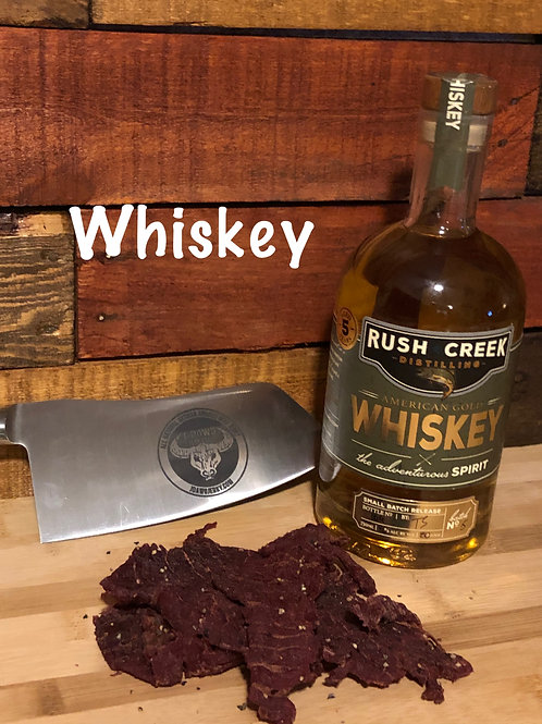 Whiskey Flavor Smoked Beef Jerky 3 oz. Package