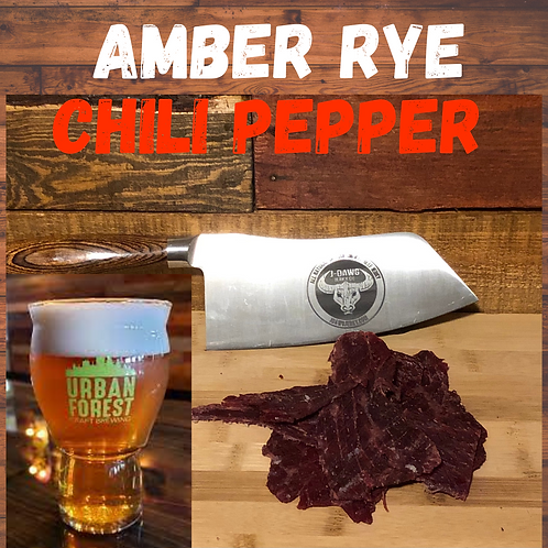 Amber Rye Chili Pepper Beef Jerky -  3 oz. Package