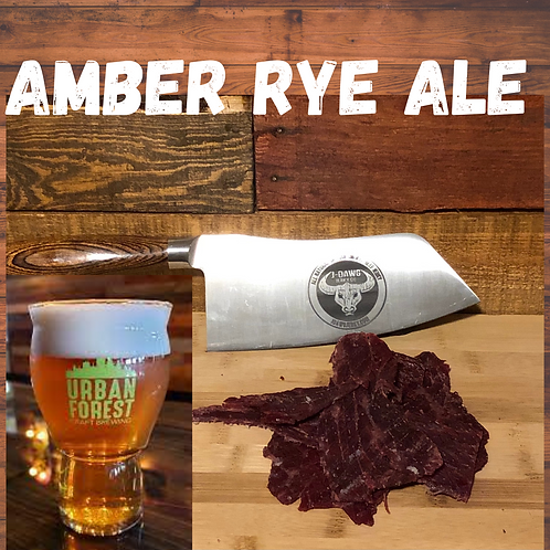Amber Rye Ale Smoked Beef Jerky -  3 oz. Package
