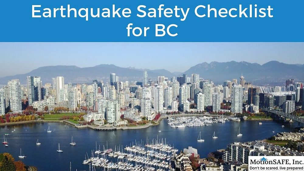 Earthquake safety checklist for british columbia