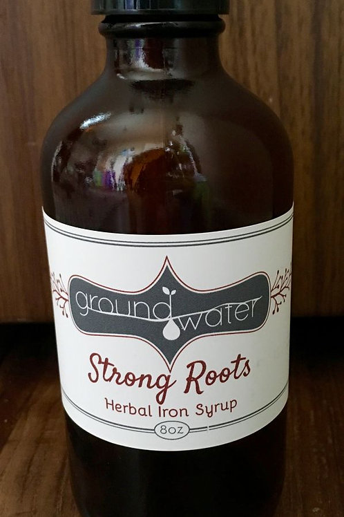 8oz Strong Roots Herbal Iron Syrup