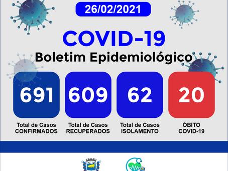 Boletim Informativo - 169 - COVID19 - Corinto