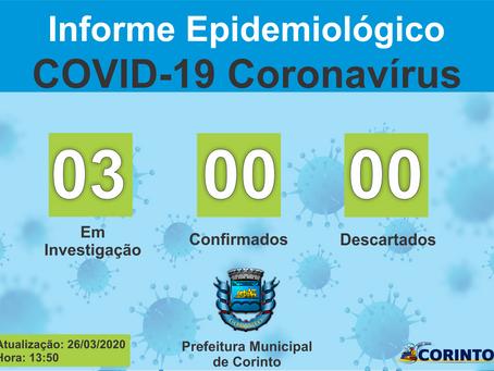 Boletim Informativo - COVID 19 - Corinto