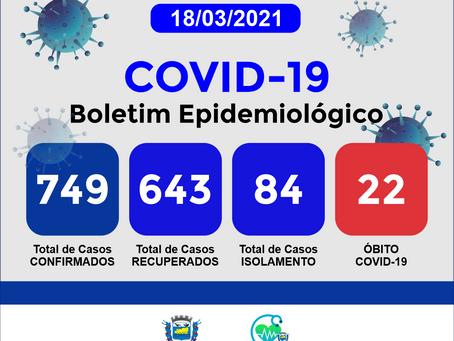 Boletim Informativo - 182 - COVID19 - Corinto