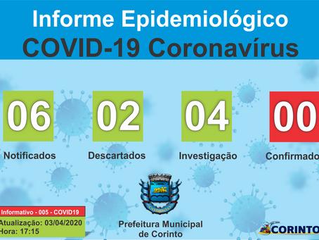 Boletim Informativo - 005 - COVID19 - Corinto