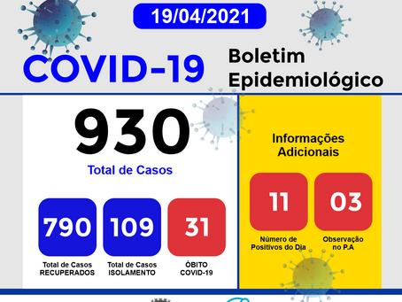 Boletim Informativo - 200 - COVID19 - Corinto