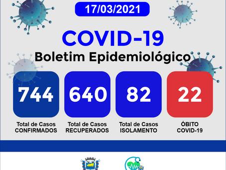 Boletim Informativo - 181 - COVID19 - Corinto