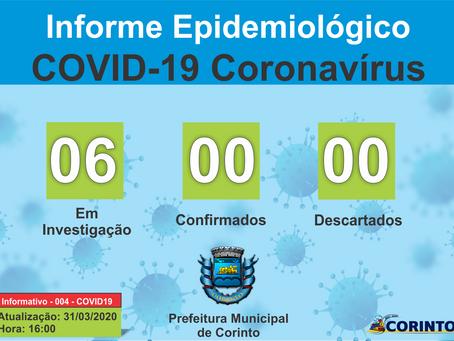 Boletim Informativo - 004 - COVID19 - Corinto