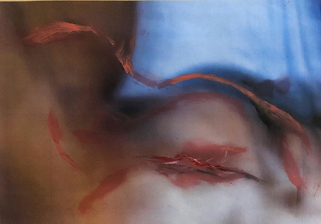 "Untitled, 11.6 x 16.5"", lipstick on injekt print"