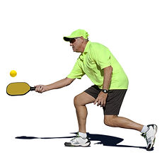 Male Pickleball Player Hitting Forehand