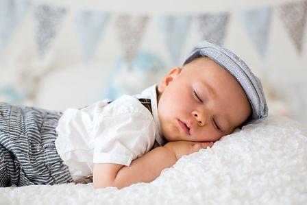 Sweet little child, baby boy, sleeping i
