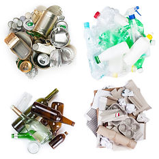 A selection of garbage for recycling. Se