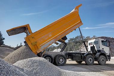 Dump truck unloading process,.jpg
