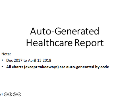 Auto-generate reports via coding & AI
