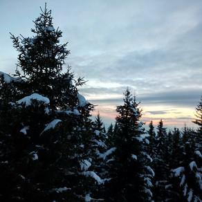 Équinoxe dans la neige