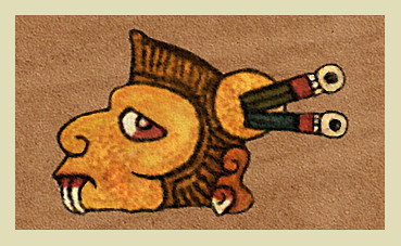 Symbole Ozomahtli du Codex Borgia (fac-similé). Foundation for the Advancement of Mesoamercan Studies, Inc. (FAMSI).