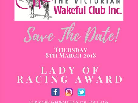 Victorian Wakeful Club With Racing Victoria Lady of Racing Award