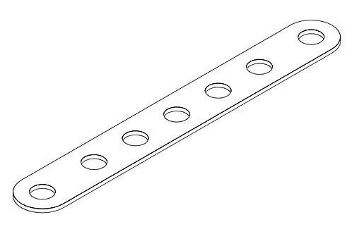 Деталь к металлическому конструктору «Планка 7 отверстий»