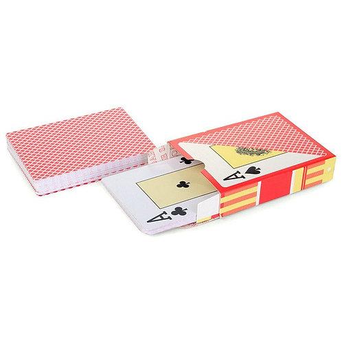 Карты для покера «Texas Holdem» 100% пластик, красная рубашка