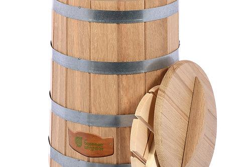 Кадка для воды и заготовки солений 30 л. с крышкой и гнётом, дуб