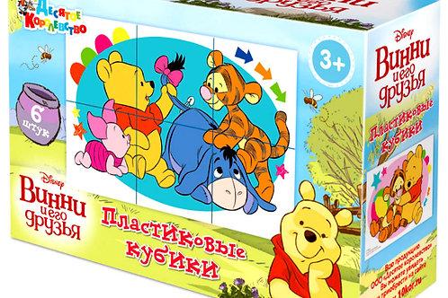 Пластмассовые кубики «Винни и его друзья» Disney (6 шт)