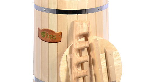 Кадка для воды и заготовки солений 30л. с гнётом и замком, липа